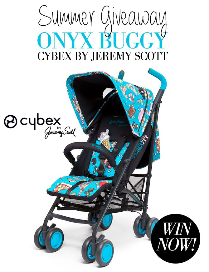 SWOON MAG SUMMER GIVEAWAY - Win a Cybex by Jeremy Scott Onyx Buggy!