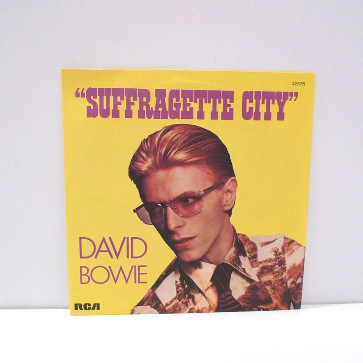 """David Bowie Suffragette City Vintage Vinyl 7"""" Single 45 rpm Picture Sleeve b-side Stay Paris France Import 70's Glam Rock British Musician by MohawkMusic on Etsy https://www.etsy.com/au/listing/263481297/david-bowie-suffragette-city-vintage"""
