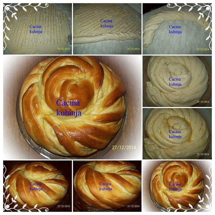 Cacina kuhinja: Posna uvrnuta pogaca / Fasting twisted bread