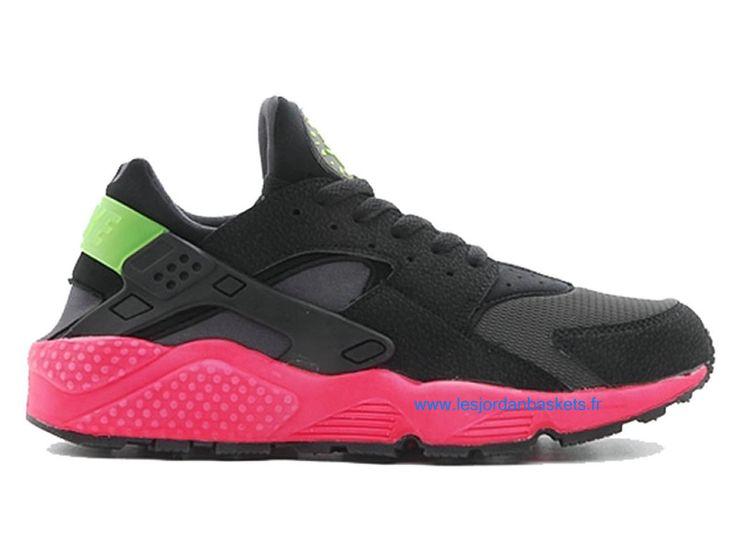 Officiel Nike Air Huarache Chaussures Pour Homme Noir/Rouge 318429,996  www.lesjordanbaskets