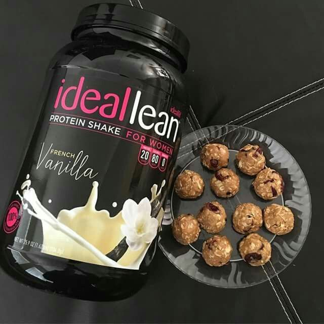 Part of my weekly meal prep are these bad boys.... PEANUT BUTTER BALLS! 1 1/2 cups Oats 1 cup Smooth Peanut Butter 1/4 cup Honey 1 Scoop IdealLean Protein Powder (Order Here: http://idealfit.com/protein) 1/4 cup dried strawberries or craisins (I actually get the dried strawberries [looks just like craisins] at Winco in the bulk section. They are SOOOO good! 1 tsp Cinnamon 1/2 tsp Vanilla Mix all together. Roll into 1 TBSP balls. Put on tinfoil and place in the freezer. Once frozen I put mine…