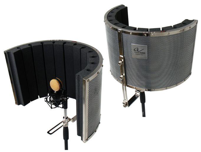 Filtro Ambiente per Microfoni. Riduce reverbero e rumori durante la registrazione. Può essere facilmente montato su aste microfoniche. Progettato per registrazioni in Studio e Live     Progettato per cantanti, speaker e registrazione strumenti