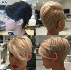 Long Pixie Blonde Haircuts