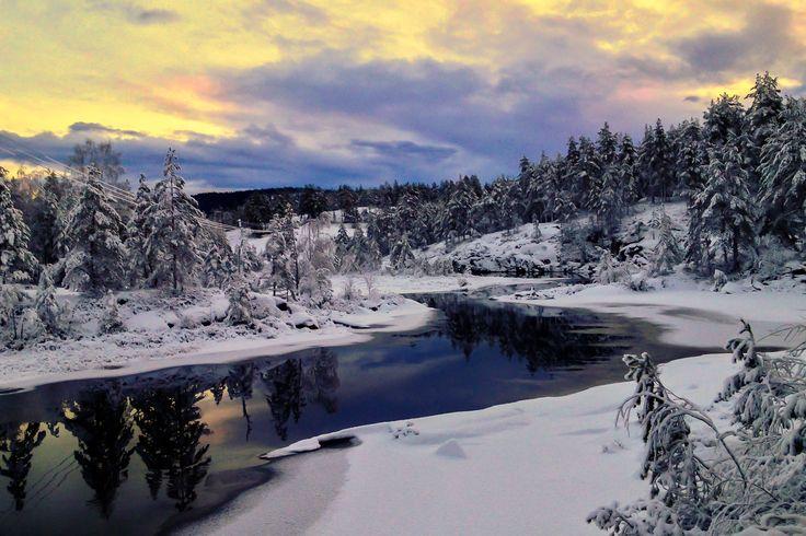 Vinteren i Åmli. Bildet er tatt med en iPhone 4S.