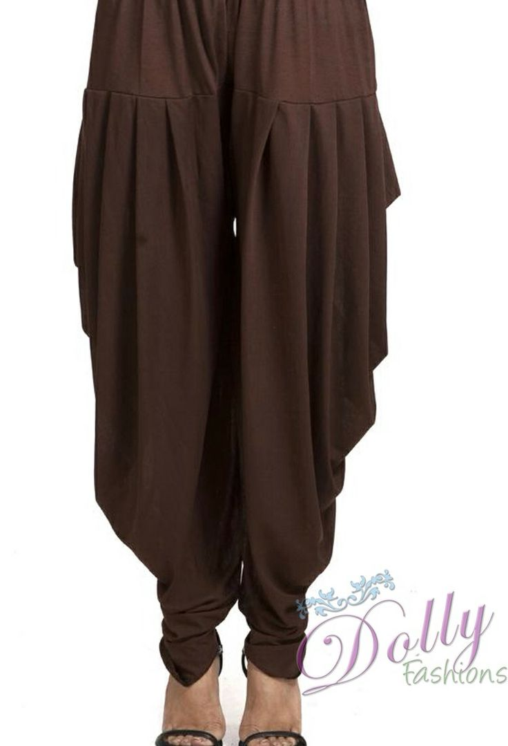 www.dollyfashions.com  Brown Shade Dhoti Pants
