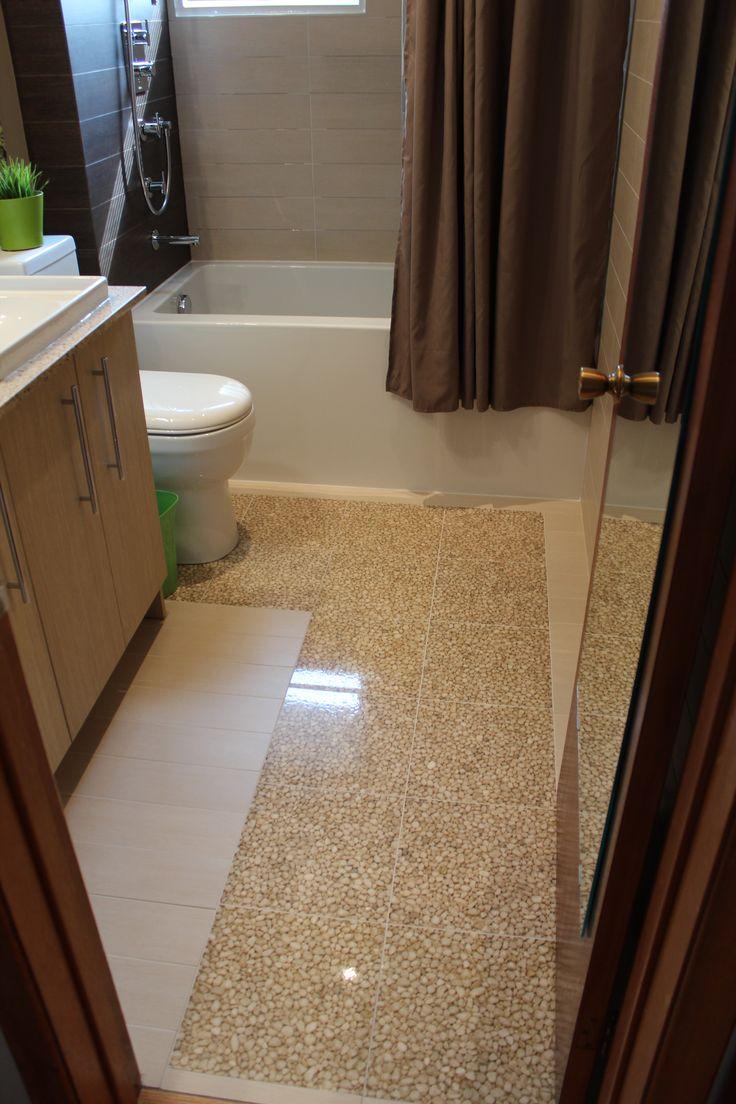 Italian Riverstone Tile High Gloss Epoxy Over Nuheat