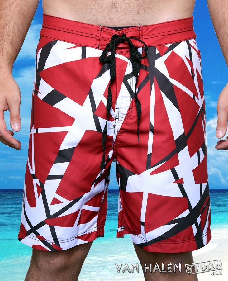 cfe2952bd6e Eddie Van Halen Board Shorts - Foo Fighters Taylor Hawkins NEW Swimsuit EVH