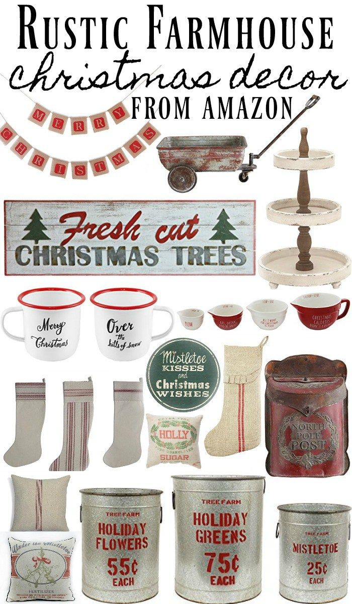 Shop the items above with my affiliate links by clicking the images: Some of my Favorites: Holiday buckets [HERE]  Grain sack stocking [HERE] Distressed green Christmas sign [HERE] Tiered tray [HERE] North Pole Mail Box [HERE]   You guys know that I've been decorating our house for a few weeks now for Christmas, but …