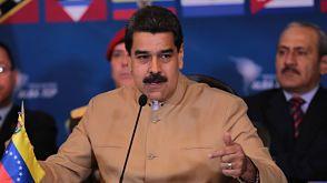 """Maduro propone """"diálogo"""" con países que le acusan de quebrar """"orden democrático""""  El Presidente de Venezuela hizo el planteamiento en Caracas durante una reunión de cancilleres del ALBA grupo de gobiernos aliados entre los que figuran Cuba, Bolivia, Nicaragua y Ecuador  CARACAS."""