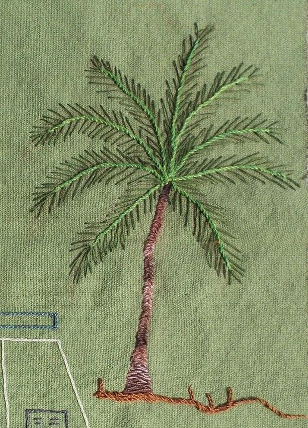 Embroidered Palm Tree.