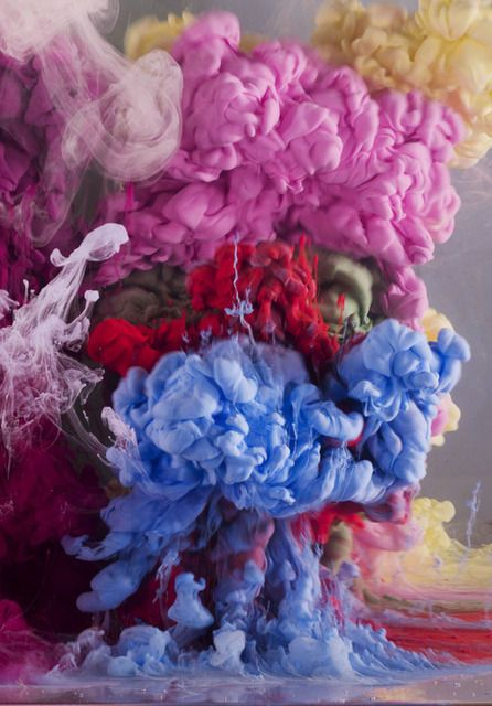 Kim Keever, Absract 7473b, sculpture-based photography, 2014.