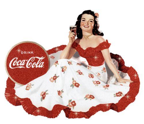 belle image ,vintage, Coca Cola girl