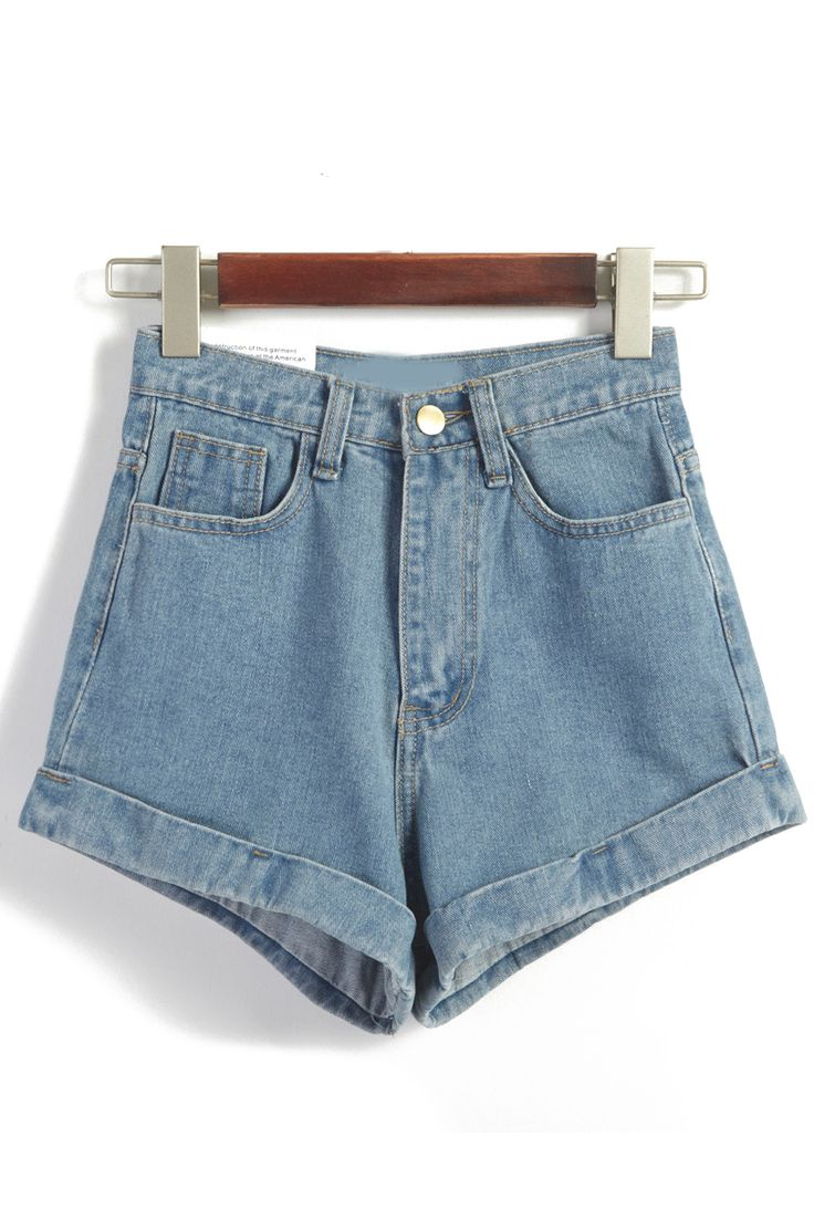 What shorts best for that hot summer ? Light blue jean denim shorts is nice surely .High waisted denim shorts will be used season after season ,also good with any tops .Come Romwe for a discount price right now !