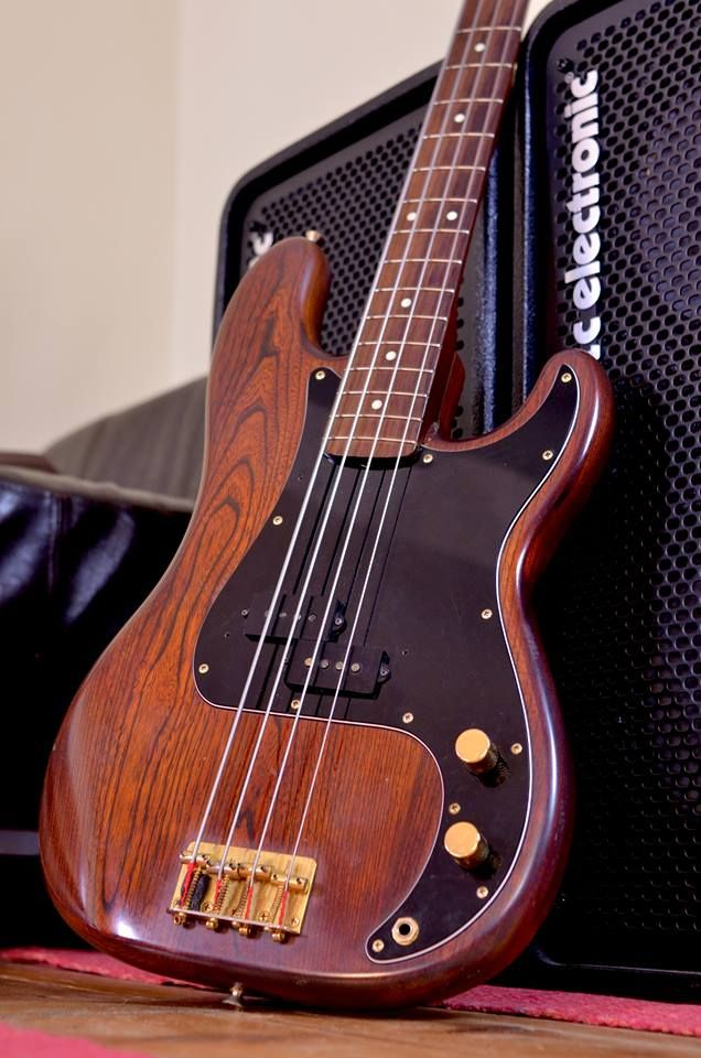 Fender Precision Bass: this was how my precision looked after I refinished the…