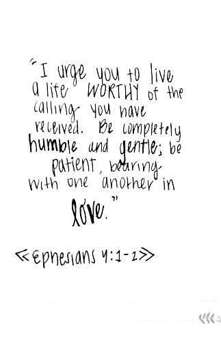 ...live a life worthy...