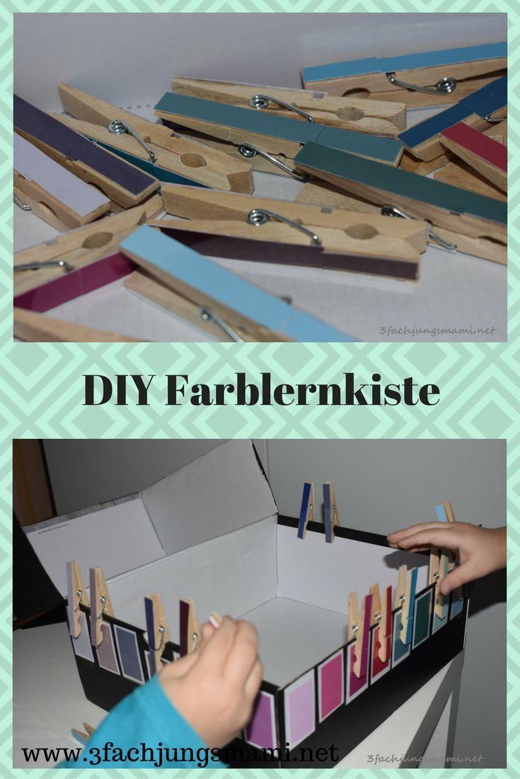 DIY Farblernkiste – ein Spiel zum Farben lernen