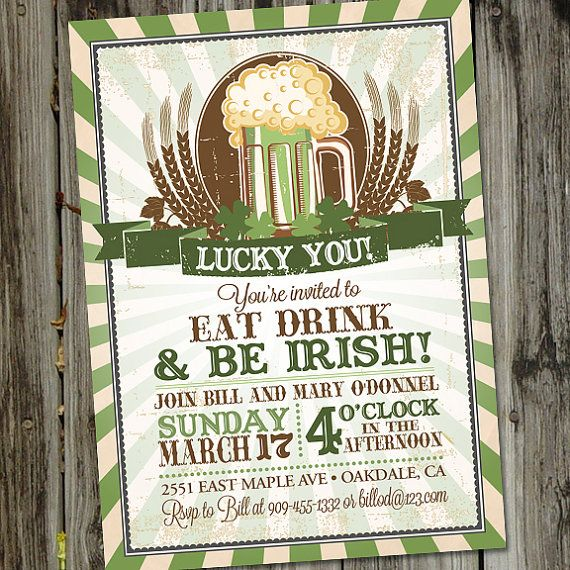 St. Patrick's Day Luck of the Irish St. Patty's Day by partymonkey