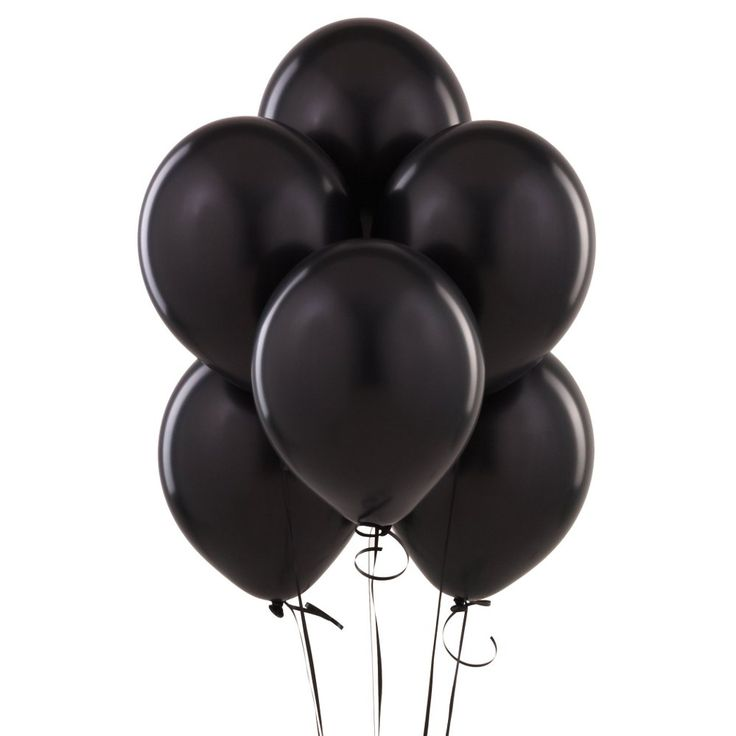 """$2.29 package of 10 12 """" Black Balloons"""