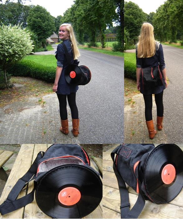 DIY vinyl record purse