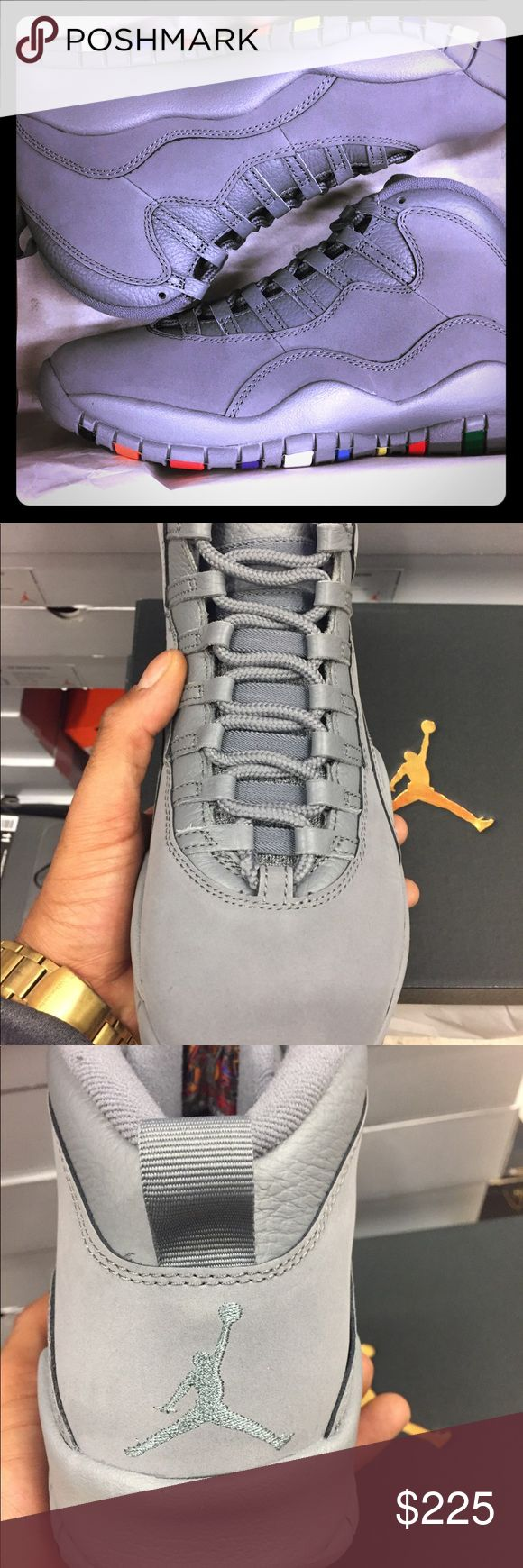 "Retro Jordan 10 ""cool grey w flavors"" DS Brand new never tried on pairs"