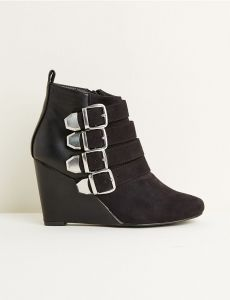 Bottines multi brides noires | Jennyfer France