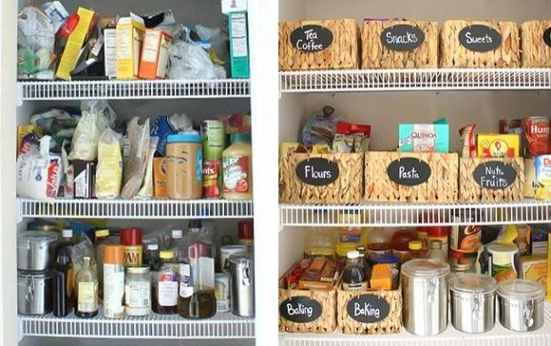 Segregacja i umieszczenie produktów w przeznaczonych do tego, podpisanych pojemnikach ułatwią nam gotowanie.