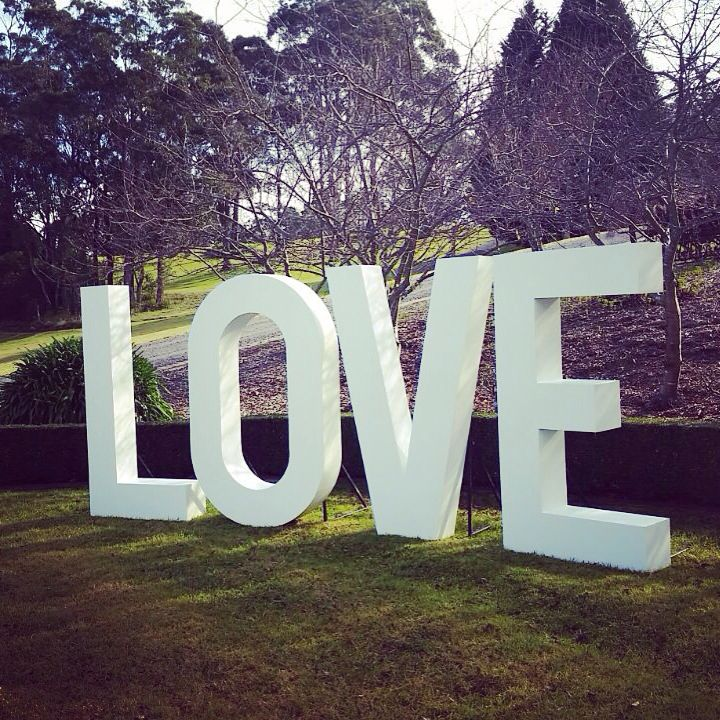 17 best images about the love sign big giant love for Giant letters for wedding