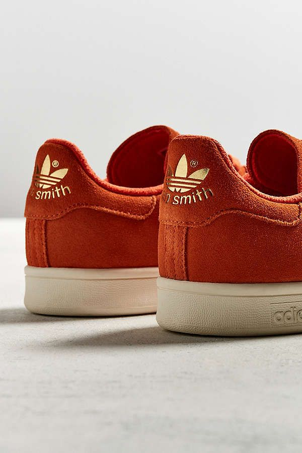 Slide View: 3: adidas Stan Smith Red Suede Sneaker