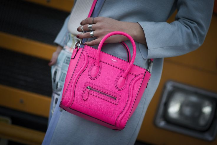 We have a serious crush on this little pink C��line bag // Street ...