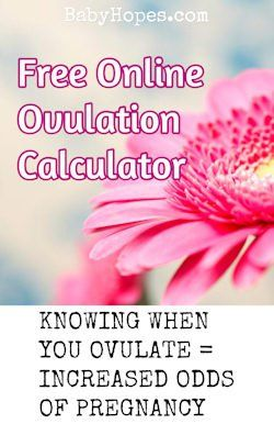 Free to use ovulation calculator.  Determine the best time to get pregnant.