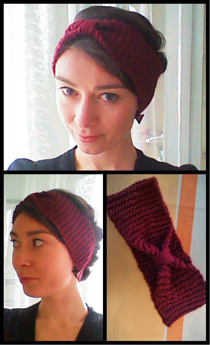 Tutoriel headband en laine pour débutant au tricot - #diy #headband #tricot #knit #dummies