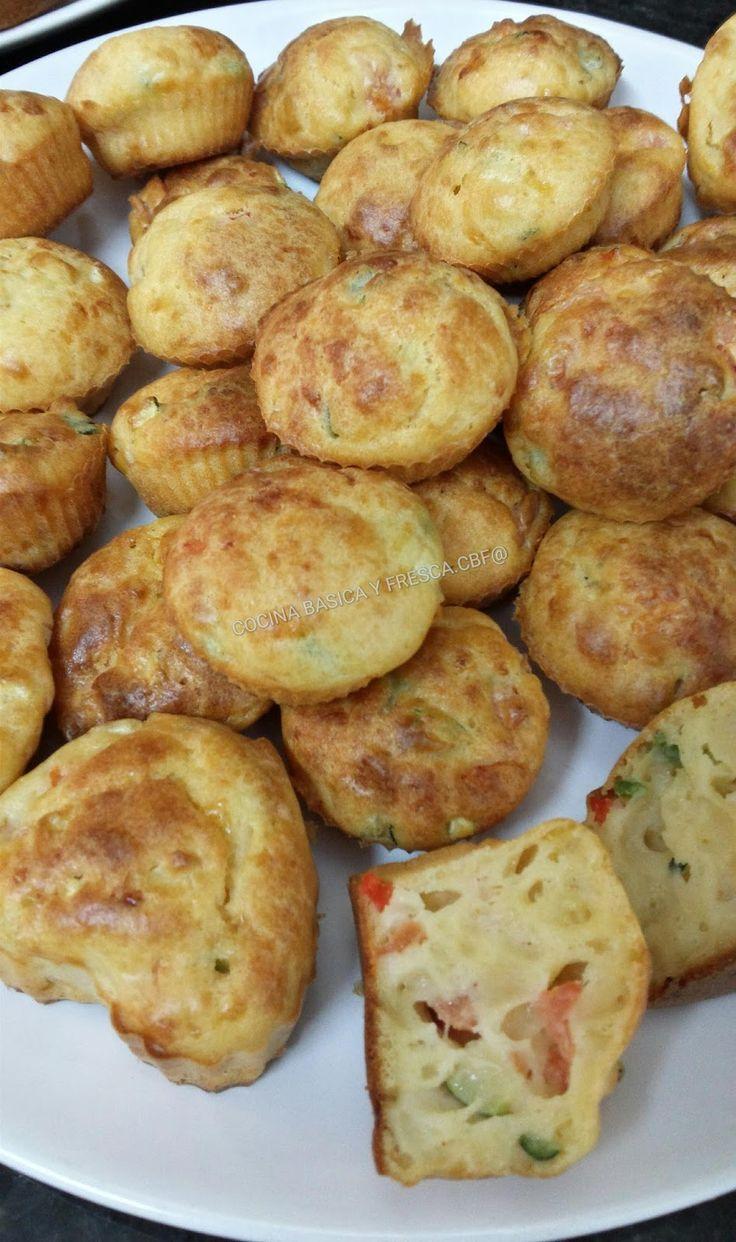 Cocina Casera y Rapida: BOCADITOS DE QUESO CON CALABACIN TOMATE Y PIMIENTO CBF@
