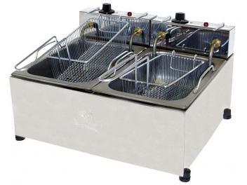 Fritadeira 10L Inox Progás - PR 20E c/ 2 Cestos