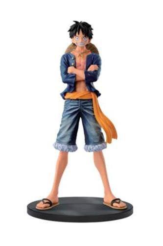 Figura Luffy, 17cm. One Piece Banpresto  Figura de 17cm basada en el manga y anime One Piece, con el personaje principal Luffy.