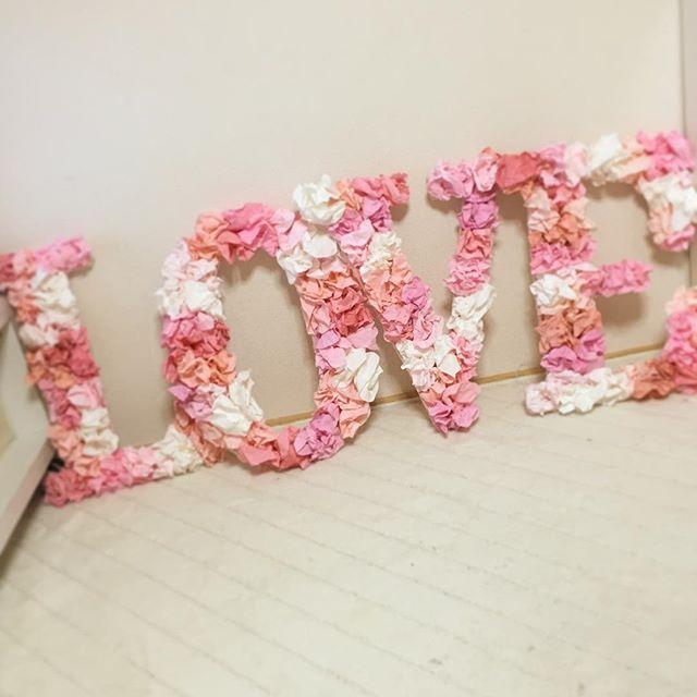 LOVEオブジェ オーダー品 . #結婚式 #ブライダル #ウェディング #アイテム #ピンク #LOVEオブジェ#wedding #フォトプロップス #ガーランド#プレ花嫁