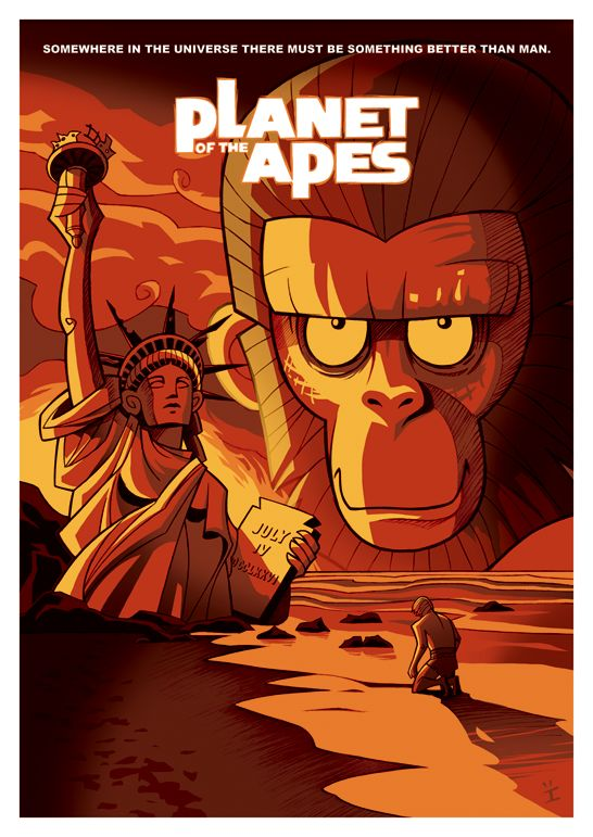 Planet of the Apes by inkjava.deviantart.com