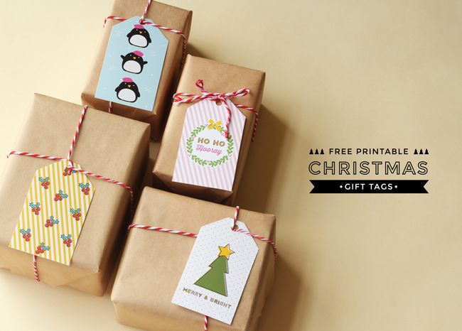 Christmas Gift Tags on Hooray Magazine | DESIGN IS YAY!