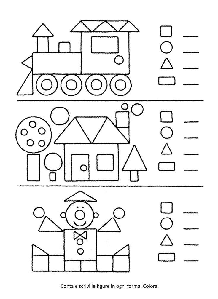spesso Oltre 25 fantastiche idee su Forme scuola dell'infanzia su  XJ29