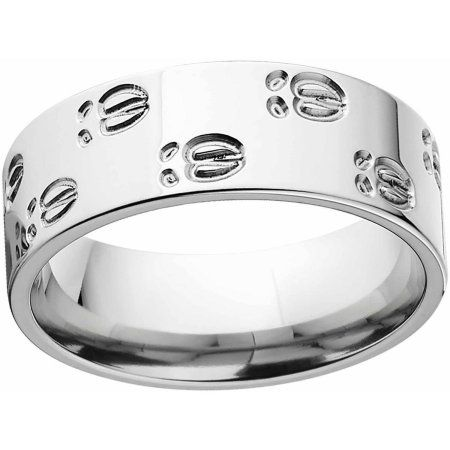 Men's Elk Track 8mm Stainless Steel Wedding Band with Comfort Fit Design, Size: 12.5