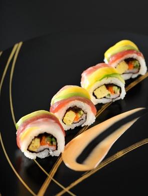 Rainbow Roll at Ginza Shari the Tokyo Sushi Bar, Japan|レインボーロール