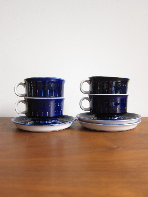 Arabia Valencia Cup and Saucer Sets Ulla Procopé by ModernSquirrel
