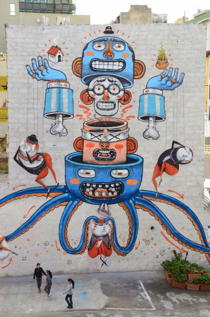 by Mr.Thoms + ZED1 - Mural against mafia In Palermo, Italy, March 2014