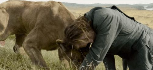 """Showing more of his animal instincts. 