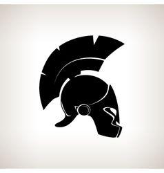 Silhouette helmet on a light background vector