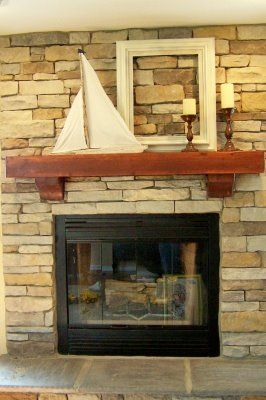 need to make something like this work for mantel with TV hanging over. Thrifty Decor Chick.