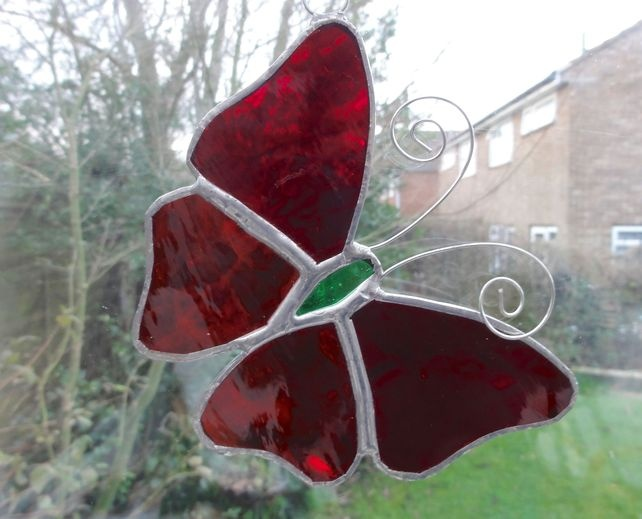 1000 images about stained glass on pinterest stained for Butterfly stained glass craft