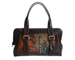 Benatky, venice, rucna malba, kozena galanteria, luxusna malba na kozu, umelecke dielo, www.luxusne-doplnky.eu