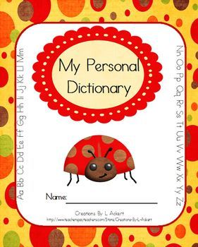 Your students will love creating their very own personal dictionaries using this download! It is ready for student use; simply download, print and staple the pages together.Contains:* An individual page for every letter of the alphabet* Additional pages for nouns, pronouns, verbs, adverbs, adjectives and prepositions.Want to know when I add new downloads?