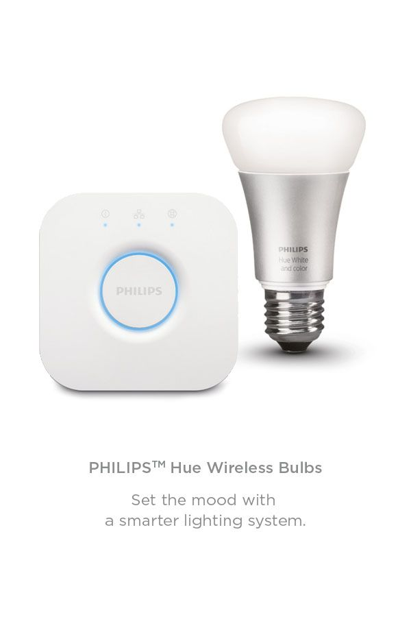 View our smart range. Take control of your home. Control your lighting remotely with the Philips Hue Wireless Bulbs Starter Kit. Turn your lights on and off, adjust brightness and change colour via your smartphone or tablet.