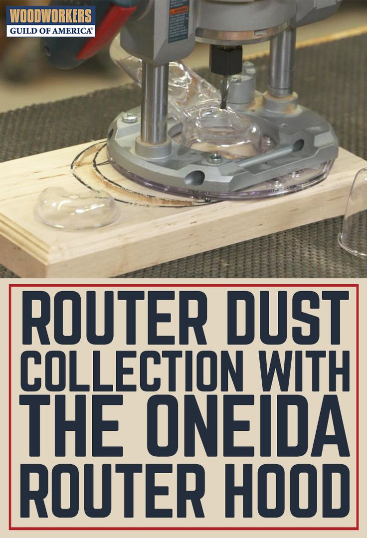 Routers make a mess, there are no two ways around around it. And it's always been hard to achieve good router dust collection, at least until now. The new Universal Dust-Free Router Hood from Oneida Air Systems provides a great solution to the problem of dust coming pouring off of your hand-held router.
